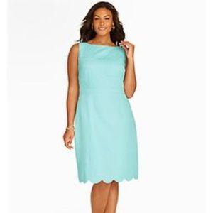 TALBOTS turquoise sleeveless dress. Plus size 16